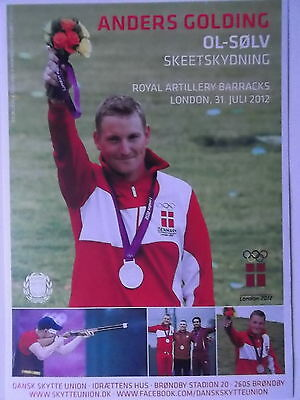 Anders Golding Denmark Team Schiessen Olympia 2012 London Autogrammkarte