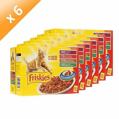 FRISKIES Poches multi pour chat 12 x 100g (6) - Friskies Chat - Lot de  NEUF