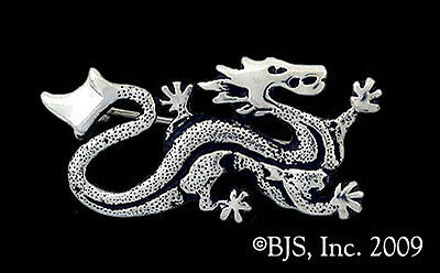 Silver Ashaman Dragon Pin, Wheel of Time Jewelry, New, Offically Licensed, WOT