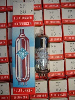 5 X Ef80 Telefunken. With # Siemens Codes.nos/Nib, Matched Five, Cryotreated