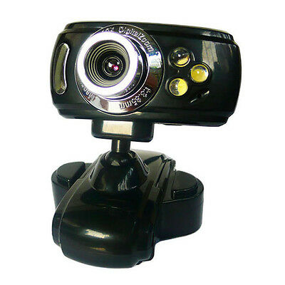 360 rotatable HD USB Webcam Web Cam Camera with 3 LED Microphone Mic PC Laptop