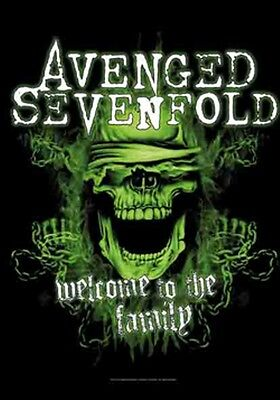 "AVENGED SEVENFOLD ""WELCOME TO THE FAMILY"" Fabric Poster Oversized 30""X40"" NEW"