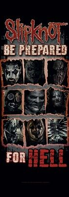 "SLIPKNOT ""BE PREPARED FOR HELL"" Fabric Poster 20.5""X58"" Door Poster NEW"