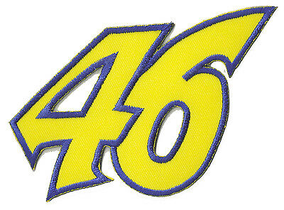 écusson brodé patche 46 Rossi thermo Ecusson moto racing patch