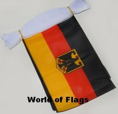 GERMAN EAGLE FLAG BUNTING 9m 30 Germany Polyester Fabric Party Flags Europe