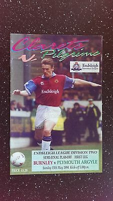 Burnley V Plymouth Argyle 1993-94
