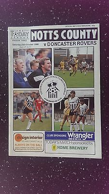 Notts County V Doncaster Rovers 1986-87