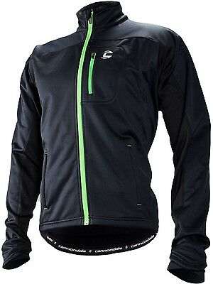 CANNONDALE Performance Softshell CYCLING JACKET in Black, windproof, winter