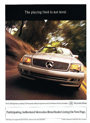 1997 Mercedes Benz SL500 SL Original Advertisement Car Print Ad J368