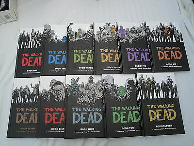 The WALKING DEAD lot of 11 Hardcover Books Comics Books 1,2,3,4,5,6,7,8,9,10,11+