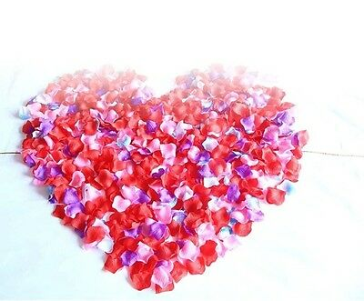 NEW 500pcs Silk Rose Flower Petals for Wedding Party Table Confetti Decorations