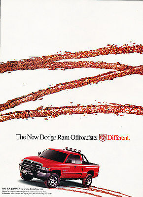 2000 Dodge Ram Offroadster Truck 2-page Original Advertisement Car Print Ad J371