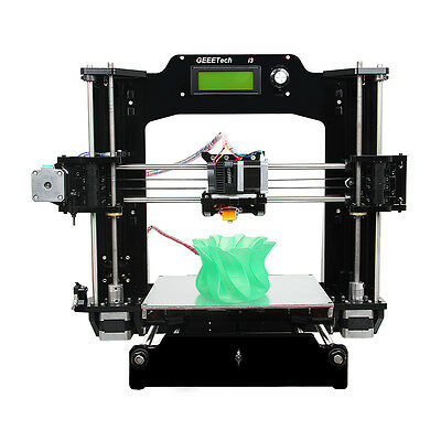 Reprap Prusa I3 3D Printer Full Acrylic Frame Supporting 6 filament LCD MK8