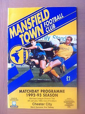Mansfield Town V Chester City 1992-93