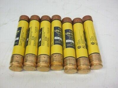 Lot of 7 Bussman LPS-RK-50SP Low Peak Dual Element Time Delay 50A 600VAC or 300V