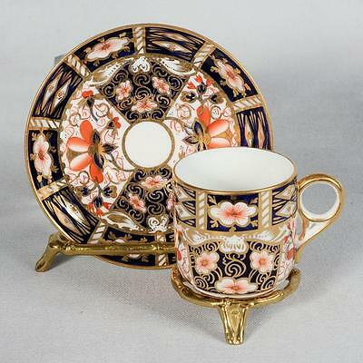 Royal Crown Derby Can Cup & Saucer - Traditional Imari Pattern # 2451