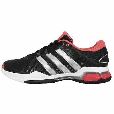 Adidas Barricade Team 4 Black Silver Red Mens Tennis Shoes Sneakers