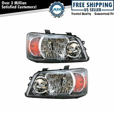 Headlights Headlamps Left & Right Pair Set NEW for 04-06 Toyota Highlander