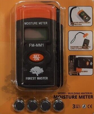 Moisture Meter Damp Detector Humidity Checker Wood Plaster Board Tester Sensor