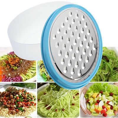 Safe Clean Stainless Steel Grater Food Vegetable Cheese Slicer w/ Container Box