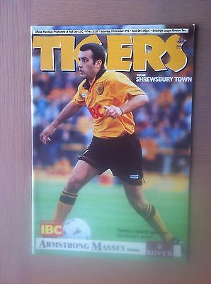 Hull City V Shrewsbury Town 1995-96