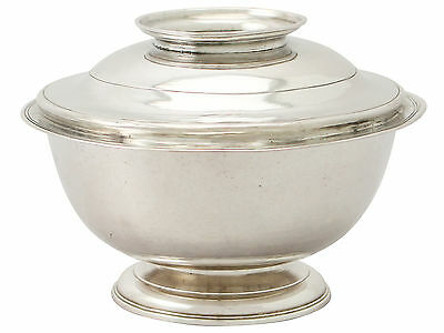 Sterling Silver Sugar Bowl and Cover/Stand - Antique George I
