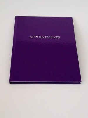 6 Column Appointment Book Shiny Purple - Salons, Hairdressers, Nail Tech etc ..