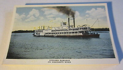WHOLESALE LOT of 25 Old c.1910's STEAMER DUBUQUE Postcards - Mississippi River
