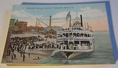 WHOLESALE LOT of 25 Old c.1910 Excursion STEAMER Postcards Quincy Ill. STEAMBOAT