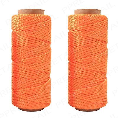 50m Orange Builders Line +PACK OF 2+ Rope String Building Brick Masonry Home DIY
