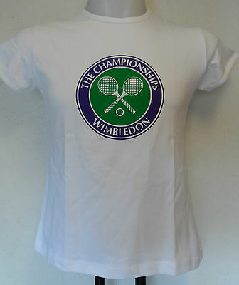 Wimbledon Tennis  White Tee- Shirt Size Children 11/13 Years Brand New