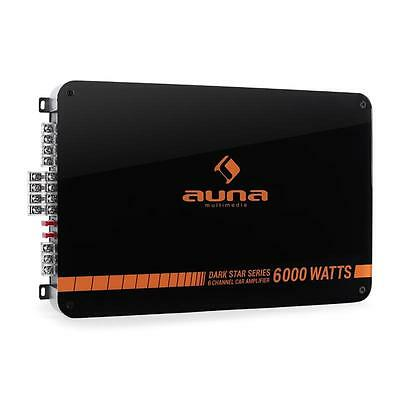 Brand New Auna Car Amp 600W Rms Amplifier Automobile Music System Black Orange