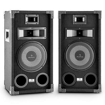 "800w 20cm PASSIVE PA SPEAKER PAIR 8"" DJ KARAOKE PARTY SPEAKERS SET STAGE AUDIO"