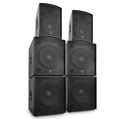 """Professional Stage Speakers 12,000W Active Dj Loudspeaker 18"""" Bass Subwoofers"""