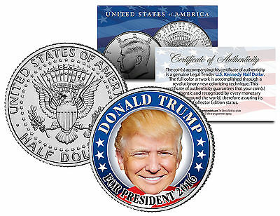 DONALD TRUMP FOR PRESIDENT 2016 - JFK Half Dollar US Coin Political CAMPAIGN
