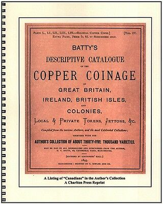 Batty's Descriptive Catalogue -Copper Coinage of Canada