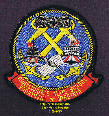 LMH PATCH Badge USCG BOATSWAIN'S MATE SCHOOL Yorktown COAST GUARD Training 5 LOT