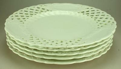 Antique Lot of 5 Aynsley Basket Weave Pattern Dining Plates c1875-1885 VH4