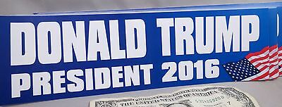 Wholesale Lot Of 10 Donald Trump For President 2016 Usa Flag  Bumper Stickers Us
