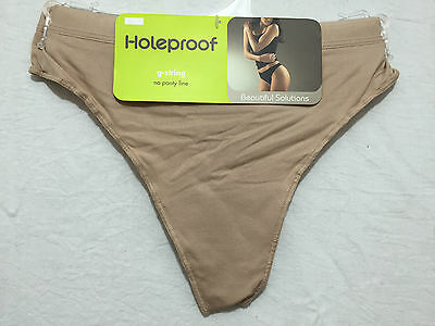 BNWT Ladies Sz 16 Holeproof No Lines Style Skin Tone Supersoft G String Undies
