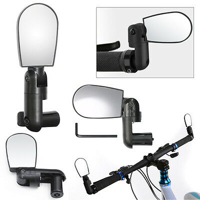 Universal Adjustable Bike Bicycle Cycling Handlebar Rearview Mirror Wide Angle
