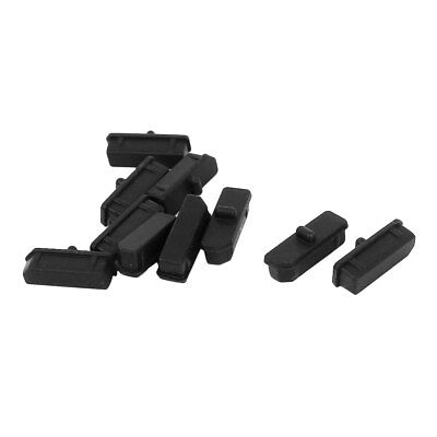 10 Pcs Black Silicone Anti Dust Cover Cap Protector for Display Port