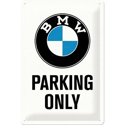 BMW PARKING ONLY  Blechschild 20x30 cm  - Motorrad Sign Signs Biker  22241