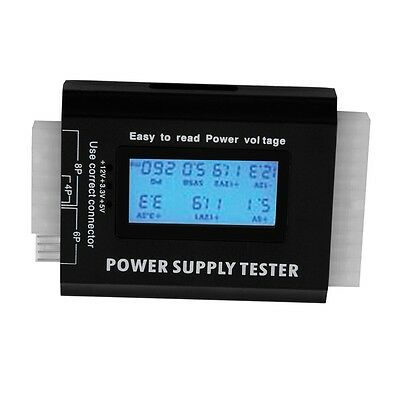Digital LCD PC Computer PC Power Supply Tester 20/24 Pin SATA HDD Testers BH