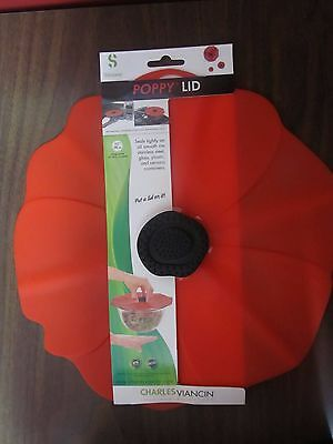 """Charles Viancin Poppy 11"""" Large Universal Silicone Storage Suction Lid #2901"""