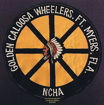 LMH PATCH Badge  GOLDEN CALOOSA WHEELERS  Motor Home NCHA RV Camping FT MYERS 8""