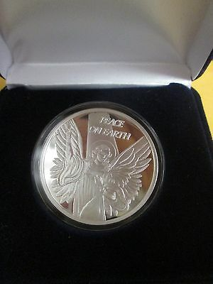 .999 fine silver bullion  oz 2014  Christmas angel W/case