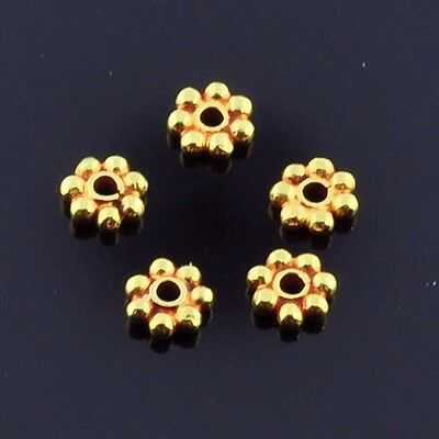2.5mm 18k Solid Yellow Gold Daisy Spacer Findings