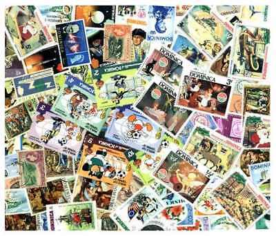 Dominica Stamp Collection - 100 Different Stamps