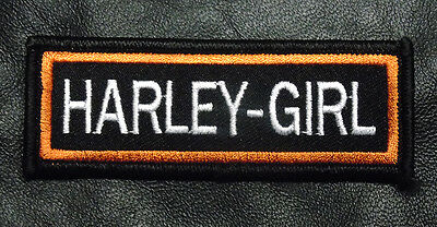 Harley Girl Embroidered Iron On Lady Rider Harley Girl Biker Patch